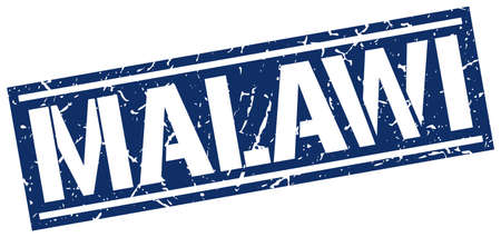 malawi: Malawi blue square stamp Illustration