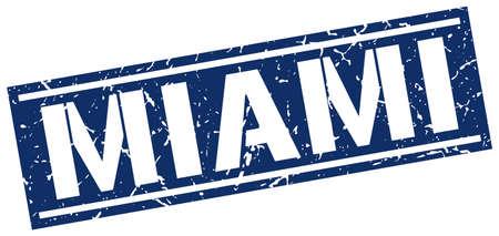 miami: Miami blue square stamp