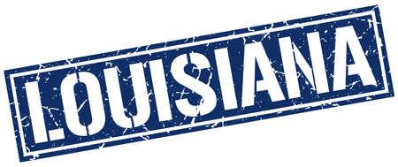 louisiana: Louisiana blue square stamp
