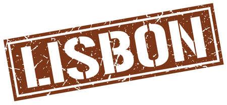 brown: Lisbon brown square stamp Illustration