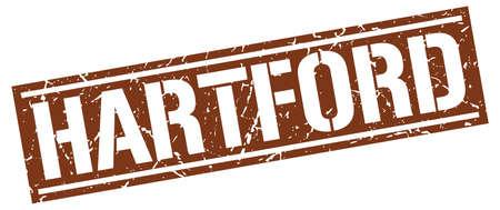 hartford: Hartford brown square stamp