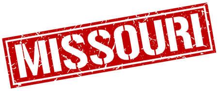 missouri: Missouri red square stamp