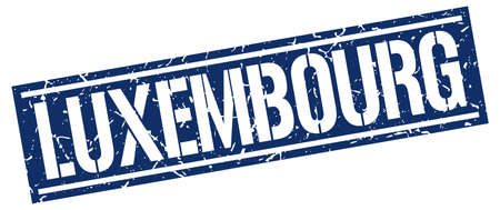 luxembourg: Luxembourg blue square stamp Illustration