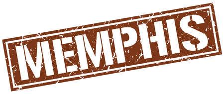 memphis: Memphis brown square stamp Illustration