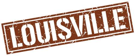 louisville: Louisville brown square stamp