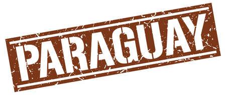 brown: Paraguay brown square stamp