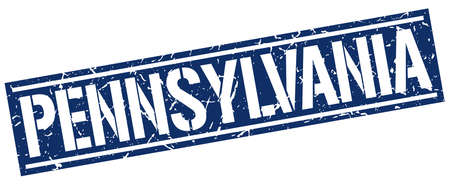 pennsylvania: Pennsylvania blue square stamp