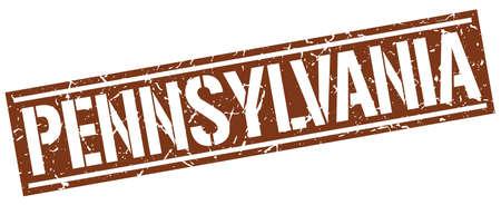 brown: Pennsylvania brown square stamp