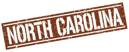 north carolina: North Carolina brown square stamp