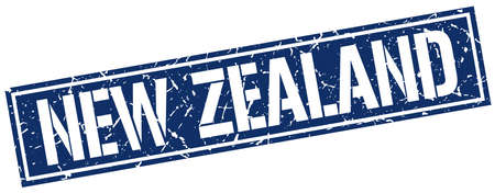 zealand: New Zealand blue square stamp