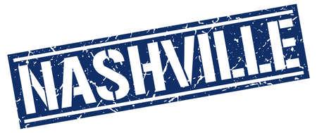 nashville: Nashville blue square stamp