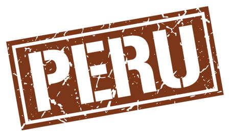brown: Peru brown square stamp