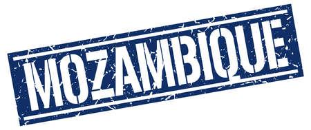 mozambique: Mozambique blue square stamp