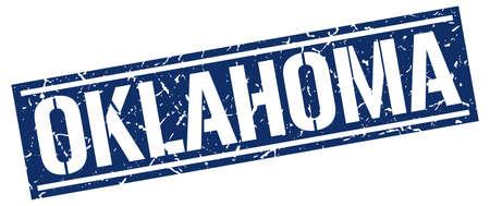 oklahoma: Oklahoma blue square stamp