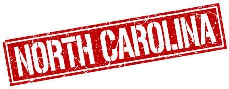 carolina: North Carolina red square stamp Illustration