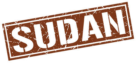 brown: Sudan brown square stamp Illustration
