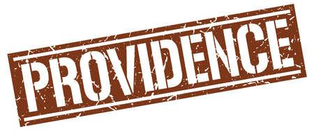providence: Providence brown square stamp