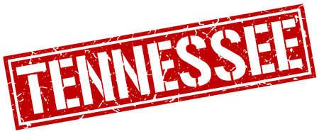 tennessee: sello cuadrado rojo Tennessee