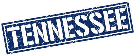 tennessee: sello cuadrado azul Tennessee Vectores