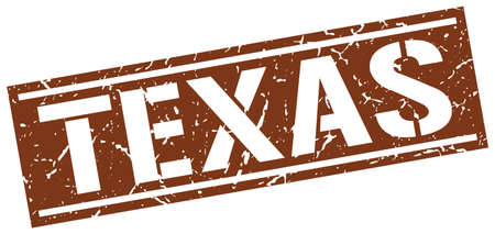 brown: Texas brown square stamp Illustration