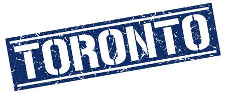 toronto: Toronto blue square stamp