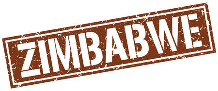 zimbabwe: Zimbabwe brown square stamp