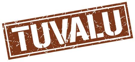 tuvalu: Tuvalu brown square stamp