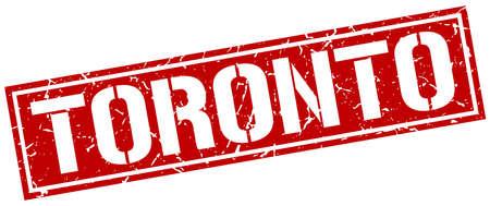 toronto: Toronto red square stamp