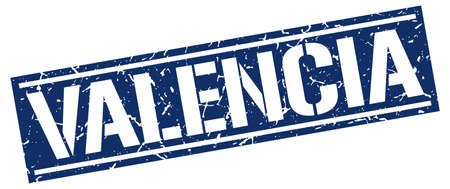 valencia: Valencia blue square stamp