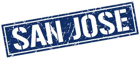 jose: San Jose blue square stamp Illustration
