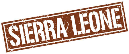 sierra leone: Sierra Leone brown square stamp