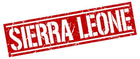 sierra leone: Sierra Leone red square stamp