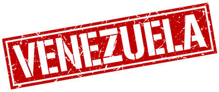venezuela: Venezuela red square stamp