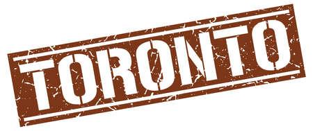 toronto: Toronto brown square stamp Illustration