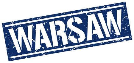 warsaw: Warsaw blue square stamp