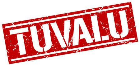 tuvalu: Tuvalu red square stamp