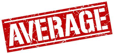 average: average square grunge stamp