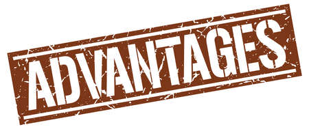 advantages: advantages square grunge stamp