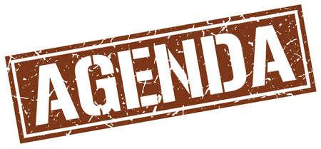 agenda: agenda square grunge stamp
