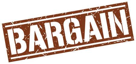 bargaining: bargain square grunge stamp
