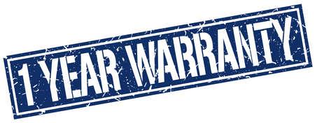 1 year warranty: 1 year warranty square grunge stamp