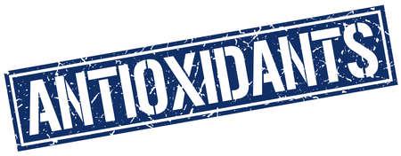 antioxidants: antioxidants square grunge stamp