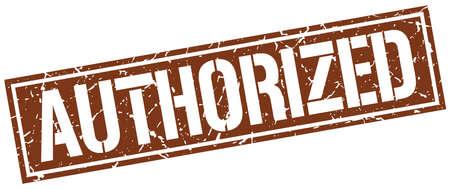 authorized: authorized square grunge stamp