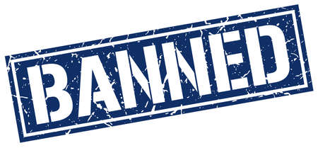 banned: banned square grunge stamp