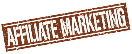 affiliate marketing: affiliate marketing square grunge stamp Illustration