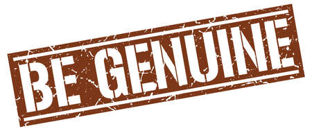 be: be genuine square grunge stamp