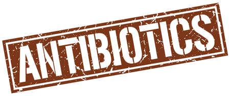 antibiotics: antibiotics square grunge stamp