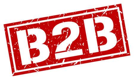 b2b: b2b square grunge stamp