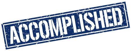 accomplished: accomplished square grunge stamp