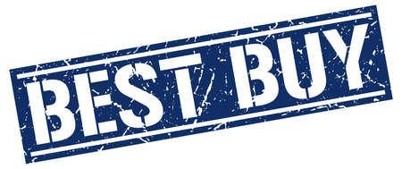 best buy: best buy square grunge stamp Illustration